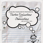 Observation and Evaluation pages from the Essential Teache