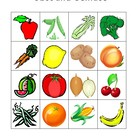 Obst und Gemuse (Fruits and vegetables in German) Bingo game