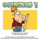 Occupations Cartoon Clipart Volume 1