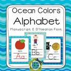 Ocean Alphabet Poster Card &amp; Picture Letter Sound Pack