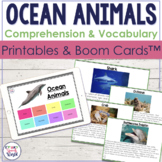 Ocean Animals Facts!  {Receptive & Expressive Language Act
