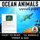 Ocean Animals Reading & Writing Pages ELA CCSS! 21 ocean c