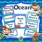 Ocean Behavior Management Clip Chart (Editable)