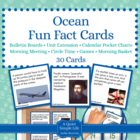 Ocean Fact Cards - Fun Unit Extension Activity, Bulletin B