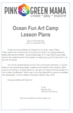 Ocean Fun Art Camp Lesson Plans