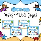 Ocean Group/Table Signs