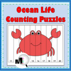 Ocean Life Counting Puzzles {Common Core Aligned}
