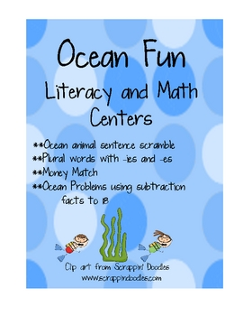 Ocean- Literacy and Math Centers
