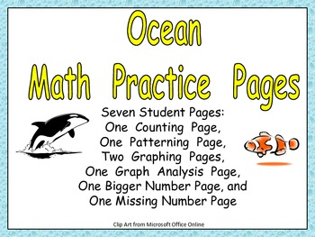 Ocean Math Activities for Kindergarten