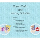 Ocean Math and Literacy Pack