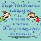 Ocean Subtraction Fact Practice Games