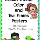 Ocean Theme Color and Ten Frame Posters