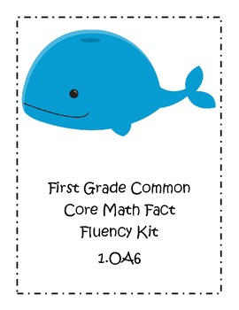 Ocean Theme First Grade Common Core Math Fluency Kit