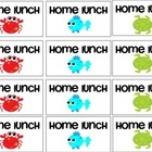 Ocean Theme Home Lunch Tags