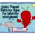 Ocean Themed Behavior Signs