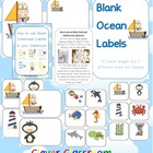 Ocean Themed Blank Classroom Labels - 48 pages