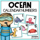 Ocean Themed Calendar Numbers
