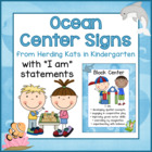 Ocean Themed Center Signs