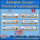 Ocean Themed Nameplates Deskplates Nametags