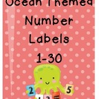 Ocean Themed Number Cards 1-30