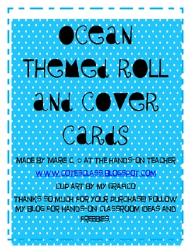 Ocean Themed Roll and Cover Math