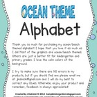 Ocean and Beach Theme Alphabet
