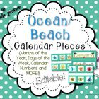 Ocean/Beach Theme Calendar Classroom Fun Pack (Editable)