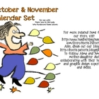 Oct/Nov Calendar There Was An Old Lady Who Swallowed Some Leaves