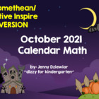 October 2012 Calendar for the  Promethean Board