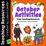 October Activities from Teaching Resources