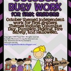 October Busy Work Pack for First Graders