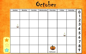 October Calendar Flipchart for ActivInspire