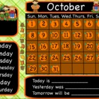 October Calendar for the Promethean Board - Flipchart