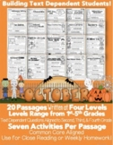 October Close Reading Passages w/ Common Core Aligned Text
