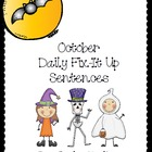 October Daily Fix-it Sentences