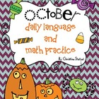 October Daily Language and Math Practice