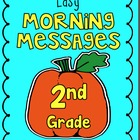 October - Easy Morning Messages - 2nd Grade