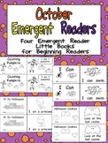 October Emergent Readers - A Book for Each Week- Fall, Halloween