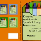 October Everyday Activities for Speech & Language Interven