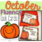 October Fluency Practice Task Cards