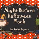 Night Before Halloween October Activity Pack