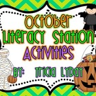 October Halloween Literacy Station Activities
