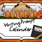 October &amp; Halloween Writing Prompt Calendar ~ {Common Core