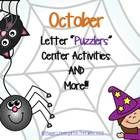 """October Letter """"Puzzlers"""" and More! Center Activities"""