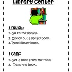 October Literacy Center Choice Board