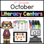 October Literacy Center Menu 1st Grade