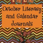 October Literacy and Calendar Journals