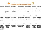 October Math Bellringer Calendar 2012