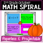 October Math Spiral Review