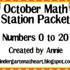 October Math Station